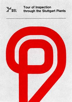 Brochure front page designed by Anton Stankowski for SEL 1962.
