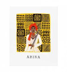 Amina Illustrated Art Print.RIFLE PAPER CO.