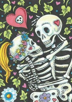 Pinterest : @MazLyons  Luv this pic of skeletons to be a tatt!!