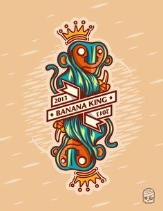 Banana King 2013 | illustration by Manuel Sombi Guevara, via Behance