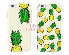 Pineapple iPhone 6 Case Fruit iPhone 6 Plus by BannerDesignShop