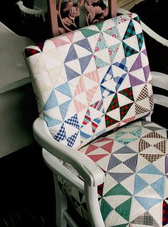 quilt covered chair