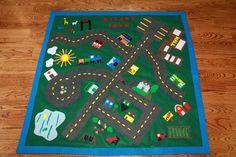 Little boy felt car play mat <3