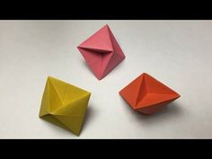 How to make a paper Octahedron / One sheet of paper