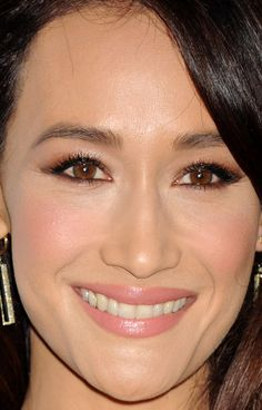 Close-up of Maggie Q at PETA's 35th anniversary party in 2015. http://beautyeditor.ca/2015/10/05/best-beauty-looks-ireland-baldwin