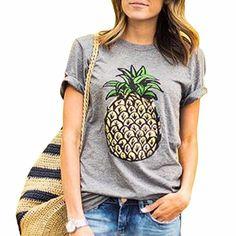 1c84e40061e0 2018 Summer Women Korean style Fruit Print Pineapple Female T-shirt O-neck  Casual Short Sleeve Female Top Tee Plus Size Clothing