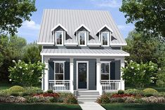 Colonial Cottage Country Southern Traditional House Plan 51929