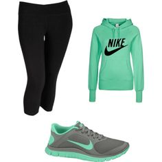 If I were gonna wear workout clothes id pick these. I like the color combo.