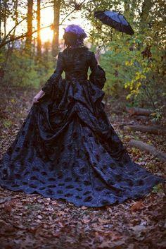 New Style Black Dahlia Fantasy Gothic Sparkle by RomanticThreads