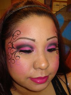 fairy drawings of blue fairy makeup | Face Painting | Pinterest ...