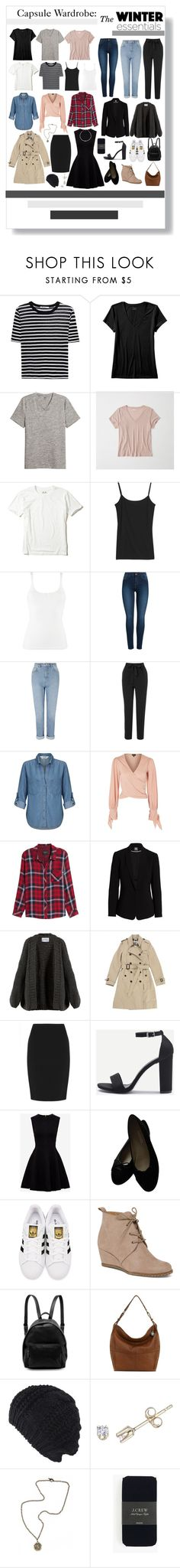 """""""Capsule Wardrobe: Winter Essentials"""" by musicislife-983 ❤ liked on Polyvore featuring T By Alexander Wang, Banana Republic, Abercrombie & Fitch, Hollister Co., Icebreaker, John Lewis, Pieces, Miss Selfridge, AngelEye and Topshop"""