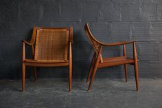PETER HVIDT LOUNGE CHAIR FRAMES (PAIR)