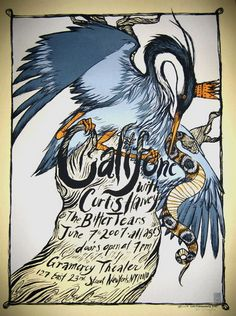 Califone Concert Poster by Diana Sudyka (SOLD OUT)