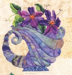 capri cornucopia block from Roseville Quilt by Maggie Walker - applique pattern