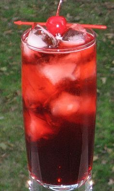 sloe gin fizz | 2 oz. Sloe Gin  1 oz. Gin  .75 oz. Fresh Lemon Juice (Rose's Lime Juice will do in a pinch)  1 Tbsp. Simple Syrup  3 oz. Soda Water (7-Up works too)  Cherry or Lime Wheel to garnish        Directions     Combine everything (except the Soda Water) into an ice filled cocktail shaker.  Cover, shake well, and pour into a Collins glass.  Add the Soda Water, give a gentle stir.