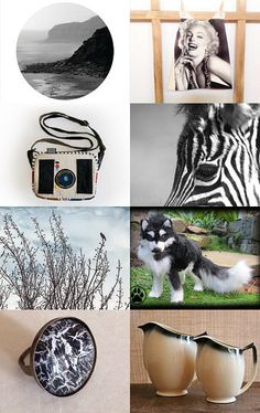 Black and white ball by Jill Lord on Etsy--Pinned with TreasuryPin.com