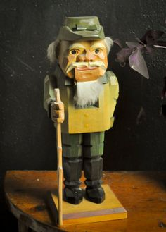 Vintage German Nutcracker The Happy Wanderer Hiker by drowsySwords, $74.00