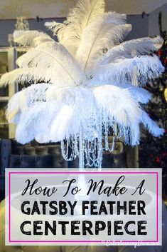 I used these DIY feather centerpieces at a Great Gatsby Party recently. They were so simple to put together and everyone loved them. Great Gatsby Wedding, Trendy Wedding, Wedding Simple, Sparkle Wedding, Diy 1920s Wedding, Diy Wedding Deco, Party Like Gatsby, Great Gatsby Theme, Ostrich Feather Centerpieces