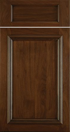 Talan A door in Walnut Brownstone with a black glaze We love love love these Greenfield Cabinetry favorites - u0026 we hear from our clients they do too! & KINNEAR 325A Cherry Natural   Greenfield Overlay Door Styles ...