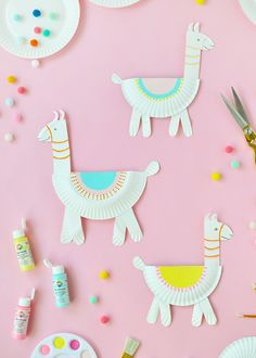 Paper Plate Llamas diy paper crafts for kids - Kids Crafts Paper Plate Llamas Paper Crafts For Kids, Crafts To Do, Preschool Crafts, Diy For Kids, Paper Crafting, Party Crafts, Diys With Paper, Arts And Crafts For Children, Crafts At Home