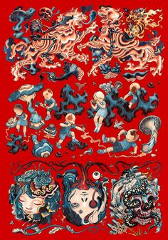 #Yellowmenace - Artist: James Jean http://www.jamesjean.com/