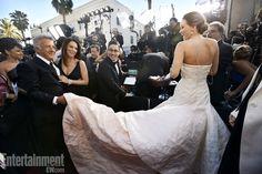 Backstage: Dustin Hoffman and Jennifer Lawrence