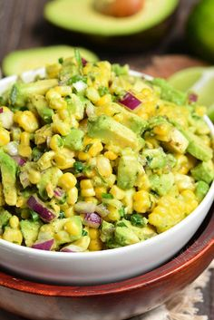 Corn Avocado Salad, Avocado Salat, Corn Salads, Easy Salads, Cucumber Salad, Corn Dishes, Side Dishes, Cooking Recipes, Healthy Recipes