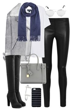 """Untitled #2945"" by charline-cote ❤ liked on Polyvore featuring Joseph, MANGO, Acne Studios, Sergio Rossi, Yves Saint Laurent and French Connection"