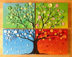 This homemade colorful button tree wall art project will be .This home-made colorful button tree wall art project is done in this step by . colorful button this this homemade Crafts Made with Buttons Fun Crafts, Crafts For Kids, Arts And Crafts, Colorful Crafts, Cork Crafts, Resin Crafts, Button Tree Art, Button Canvas Art, Button Wall Art