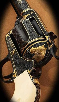 Beautiful revolver with etching and inlaid horse detailing....patented September 19, 1871.