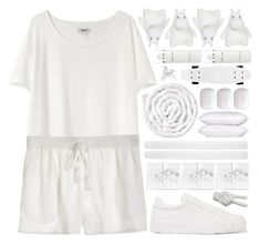 """""""bright and white..."""" by cinnamon-and-cocoa ❤ liked on Polyvore featuring Acne Studios, Calypso St. Barth, VIPP, Jil Sander, Noir, H2O+, Elemis and Hermès"""
