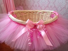 Tutú del tutú bebé ducha cesta cesta de boda por MissMadelynsBows
