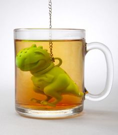Tea Rex...a little something for my soon to be paleontologist daughter who loves her tea...