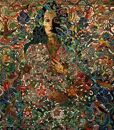 art: Nuestra Senora de la Poesia, artist: Alfredo Arreguin  love the detailed work