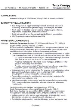 Supply Chain Manager Resume Supply_Chain_Manager_Resume_Example  Places  Pinterest  Sample