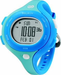 Soleus Running Watch - Chicked - Clear Blue / Shy Blue / White
