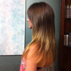 Ombré highlights that I did