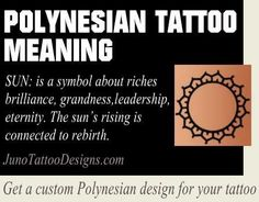 polynesian sun symbol meaning - junotattoodesigns