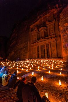 Petra by night in Jordan...Every Monday, Wednesday and Thursday!