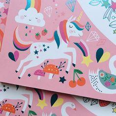 Little corner of our artist Rebecca Jones new book with Nosy Crow Unicorn Illustration, Pattern Illustration, Animal Illustrations, Kids Graphic Design, Unicorn Art, Happy Unicorn, Betty Boop Cartoon, Unicorn Pictures, Unicorns And Mermaids