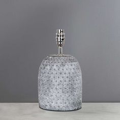 Andel Debossed Grey Table Lamp Base | Dunelm