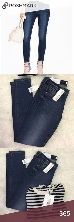 Banana Republic Sculpt Skinny High Rise Ankle Jean Premium Denim: Figure-transforming fit. Unsurpassed recovery. Body conforming stretch. Zip fly with button closure. Belt loops. Traditional five-pocket styling. Our denim is made under strict guidelines to ensure that the water used in washing and dyeing is safe and clean before it is released into the environment. #305427 Sizing: 24=00, 25=0, 26=2, 27=4, 28=6, 29=8, 30=10, 31=12, 32=14, 33=16. Banana Republic Jeans Skinny