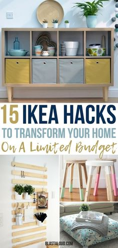 Transform your furniture with these 15 DIY IKEA Hacks that will save you a ton of money! There's no need to spend money on expensive furniture when you can hack cheap IKEA items into beautiful pieces of furniture. #ikea #diy #ikeahacks #furniture #decor