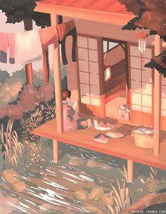 𝓛𝓲𝓷 - Anime Gifs Art by Art Anime, Anime Kunst, Aesthetic Art, Aesthetic Anime, Art And Illustration, Arte 8 Bits, Posca Art, Art Drawings, Art Sketches