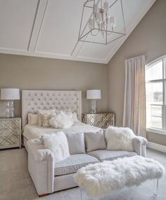 Awesome Tan and white bedroom. Tan and white bedroom paint color and decor. Tanandwhitebedroom Memmer Homes, Inc. The post Tan and white bedroom. Tan and white bedroom paint color and decor. Tanandwhiteb… appeared first on Home Dec . Dream Rooms, Dream Bedroom, Home Decor Bedroom, Bedroom Bed, Bedroom Furniture, Cozy Bedroom, Feminine Bedroom, Tan Bedroom Walls, Kids Furniture