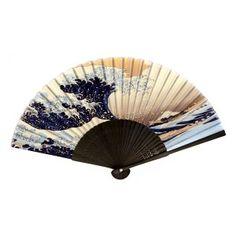 Eventail japonais Hokusai