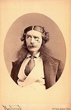 """Edward Askew Sothern, 1826-1881, English actor; best known for the part of Lord Dundreary in """"Our American Cousin."""" He was on the stage the night Abraham Lincoln was assassinated"""