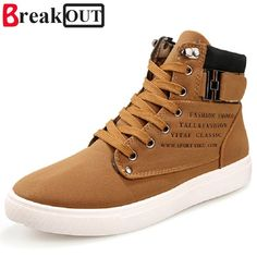 f8a13066971 comBreak Out New Men Boots For Men Leather Boots Breathable Spring Autumn  Summer Fashion Men Shoes Casual Big Size 45 46