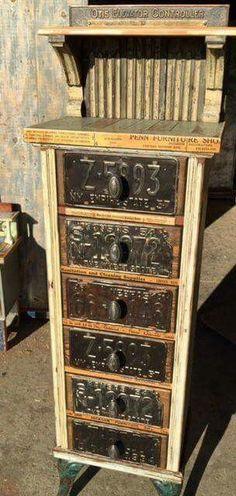 License plates for rustic industrial look #VintageIndustrial