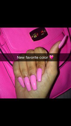 Beautiful Pink long nails